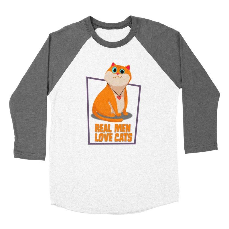 Real Men Love Cats Men's Baseball Triblend Longsleeve T-Shirt by Hosico's Shop