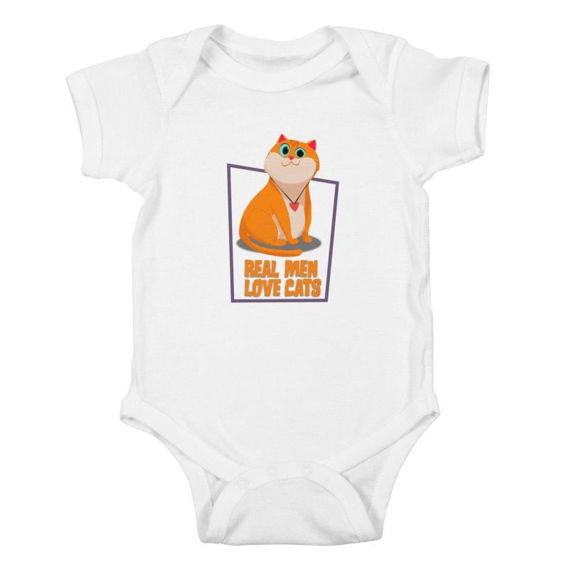 Real Men Love Cats Kids Baby Bodysuit by Hosico's Shop