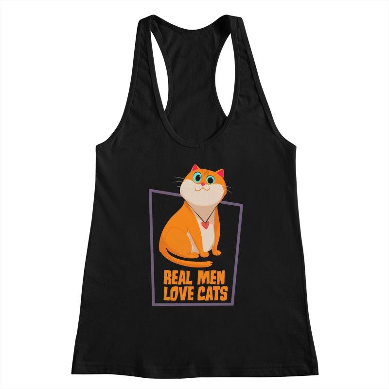 Real Men Love Cats Women's Tank by Hosico's Shop