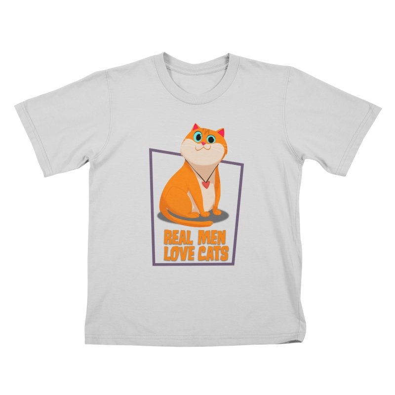 Real Men Love Cats Kids T-Shirt by Hosico's Shop