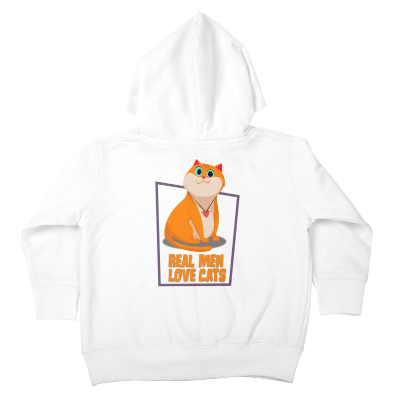 Real Men Love Cats Kids Toddler Zip-Up Hoody by Hosico's Shop