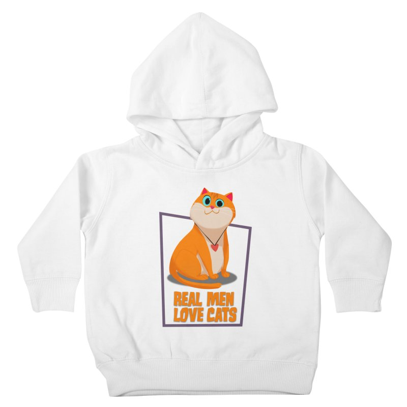 Real Men Love Cats Kids Toddler Pullover Hoody by Hosico's Shop