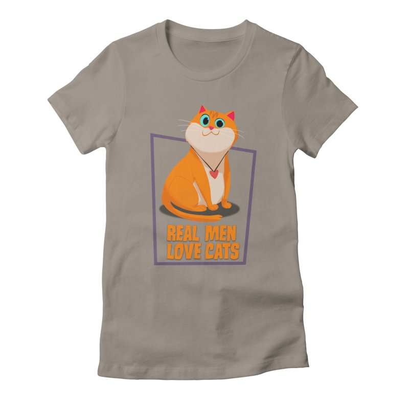 Real Men Love Cats Women's T-Shirt by Hosico's Shop