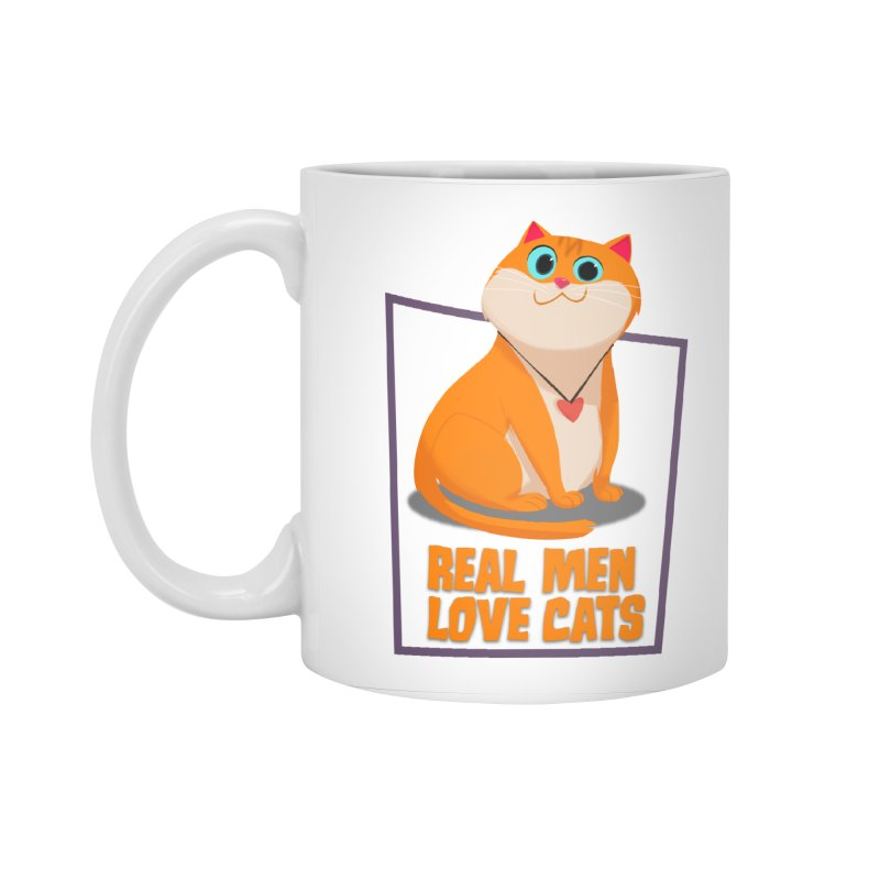 Real Men Love Cats Accessories Standard Mug by Hosico's Shop