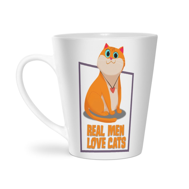Real Men Love Cats Accessories Latte Mug by Hosico's Shop