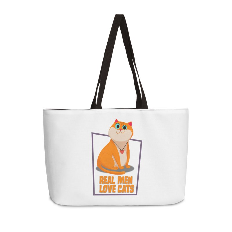 Real Men Love Cats Accessories Weekender Bag Bag by Hosico's Shop