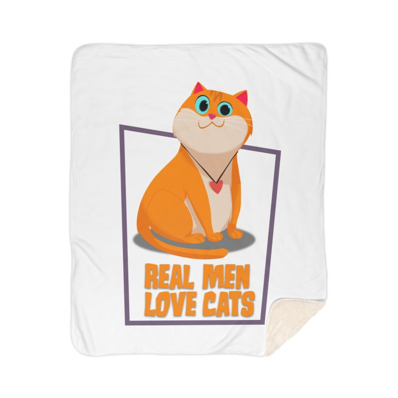 Real Men Love Cats Home Blanket by Hosico's Shop