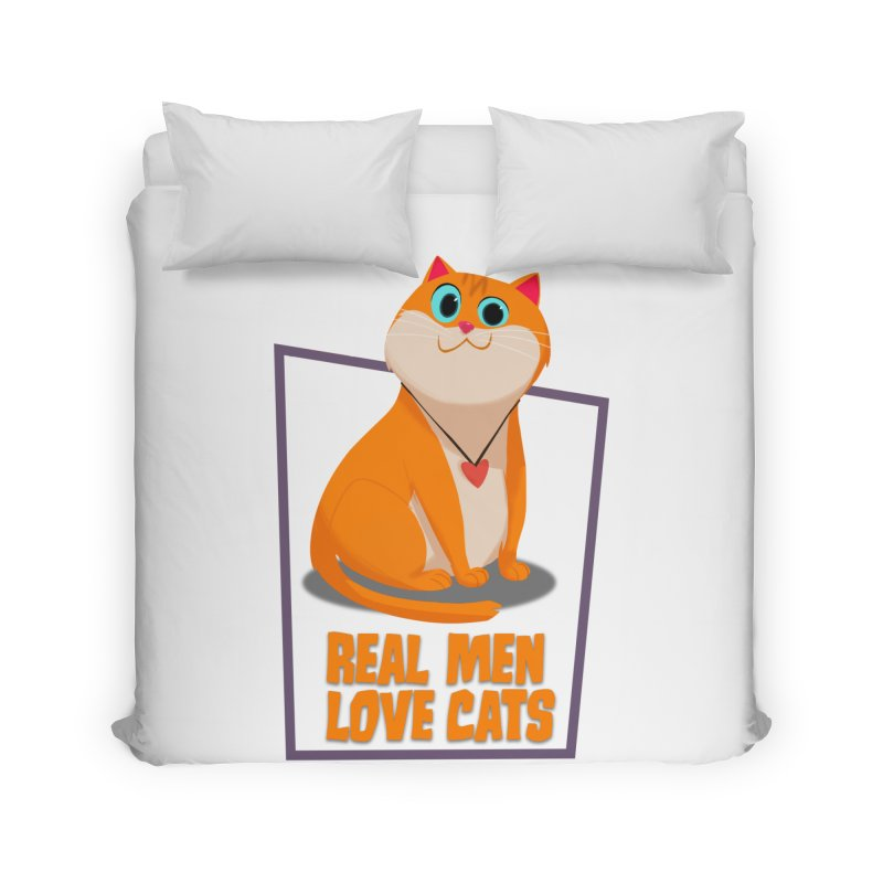 Real Men Love Cats Home Duvet by Hosico's Shop