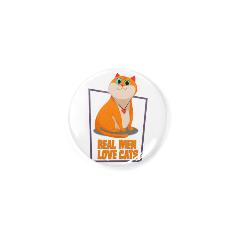 Real Men Love Cats Accessories Button by Hosico's Shop