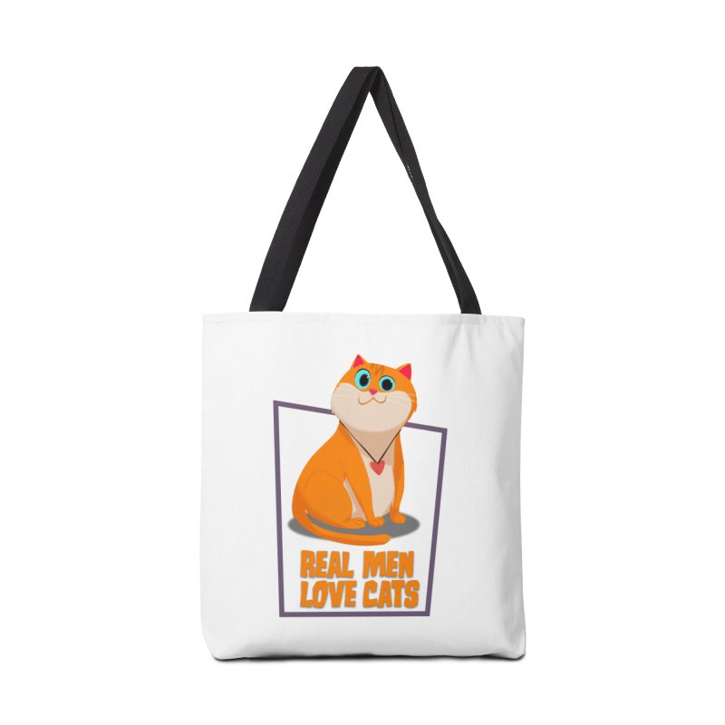 Real Men Love Cats Accessories Tote Bag Bag by Hosico's Shop