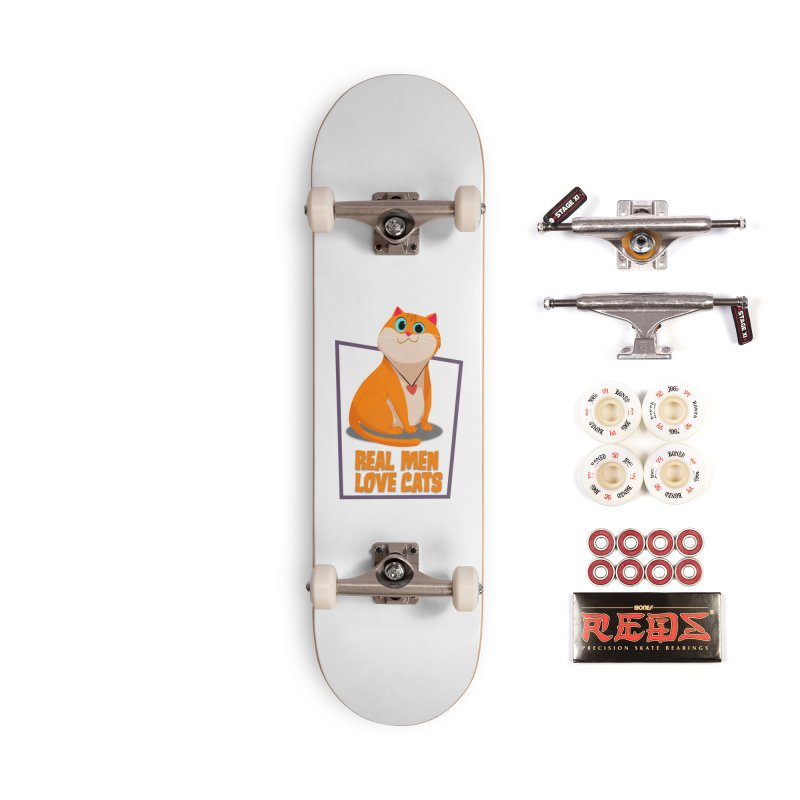 Real Men Love Cats Accessories Complete - Pro Skateboard by Hosico's Shop