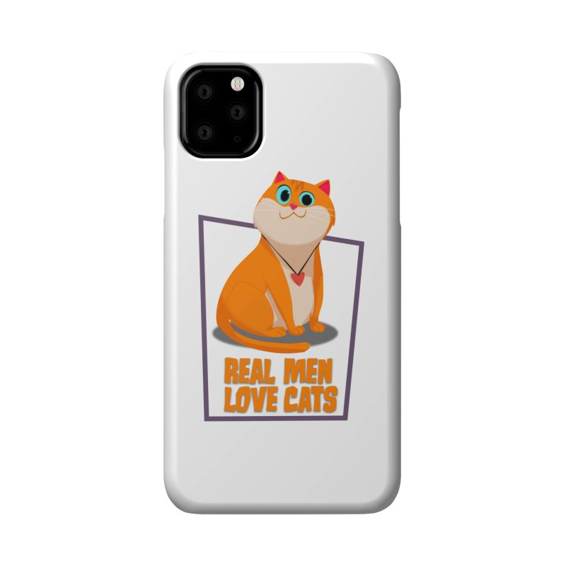 Real Men Love Cats Accessories Phone Case by Hosico's Shop