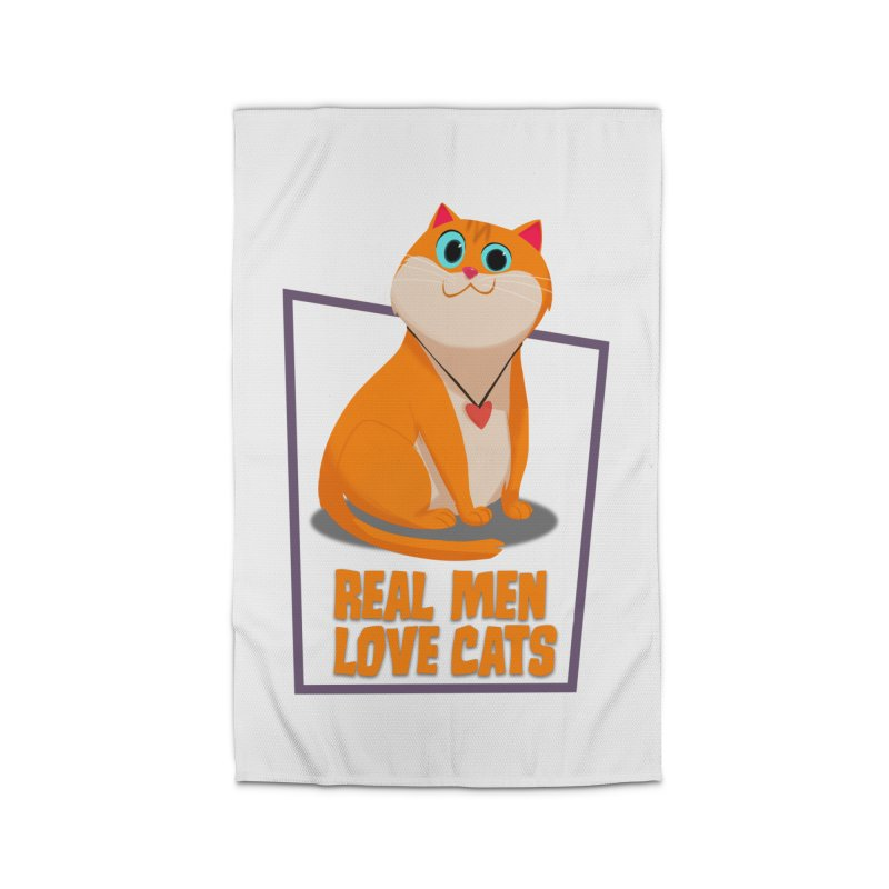 Real Men Love Cats Home Rug by Hosico's Shop