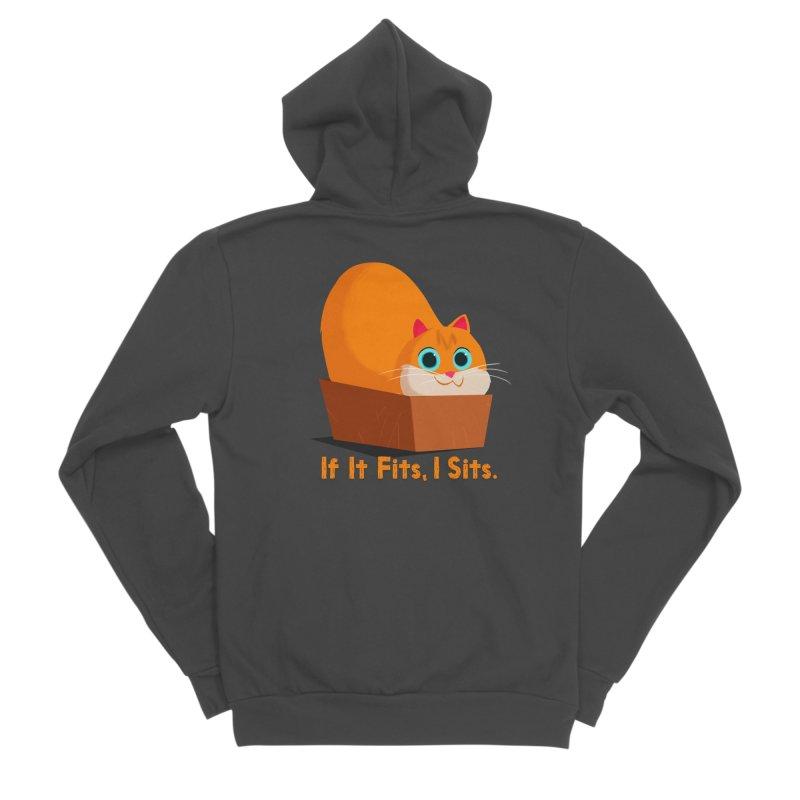 If it fits, i sits Women's Sponge Fleece Zip-Up Hoody by Hosico's Shop