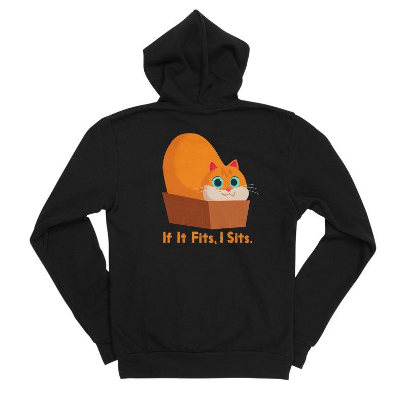 If it fits, i sits Men's Sponge Fleece Zip-Up Hoody by Hosico's Shop