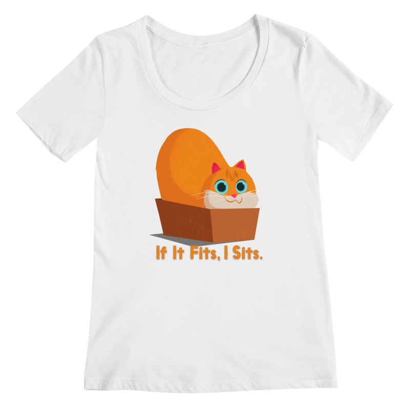 If it fits, i sits Women's Regular Scoop Neck by Hosico's Shop