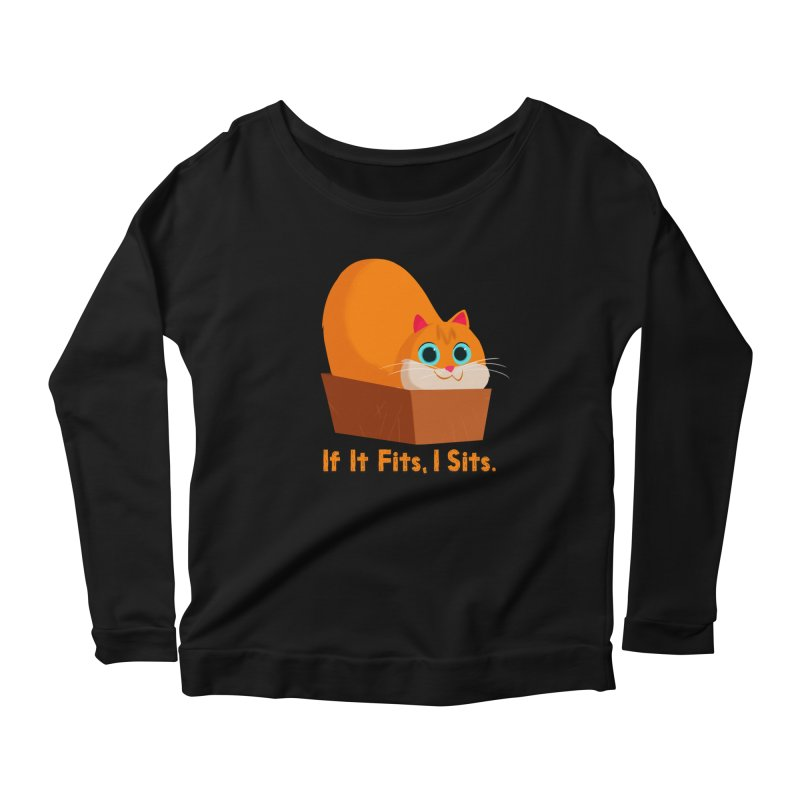If it fits, i sits Women's Scoop Neck Longsleeve T-Shirt by Hosico's Shop