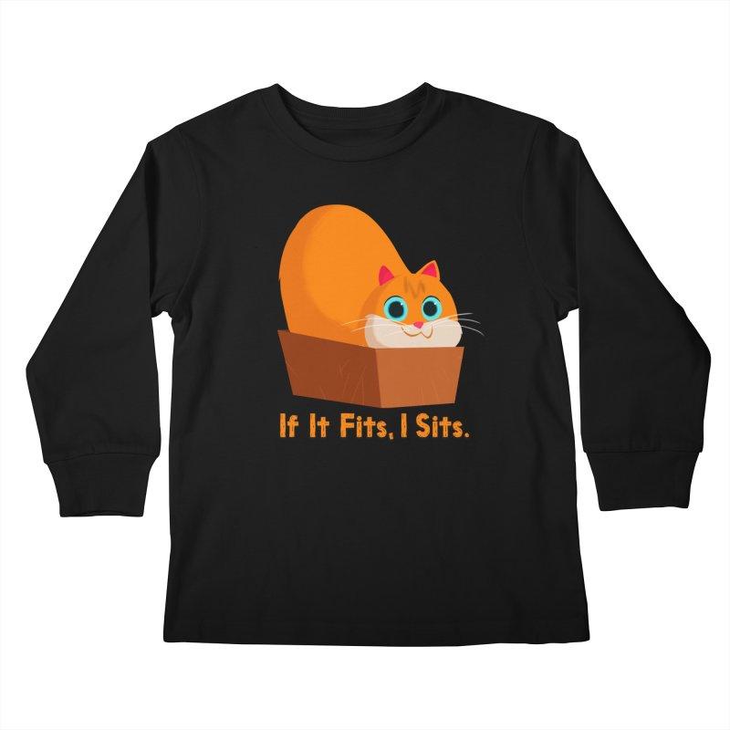 If it fits, i sits Kids Longsleeve T-Shirt by Hosico's Shop