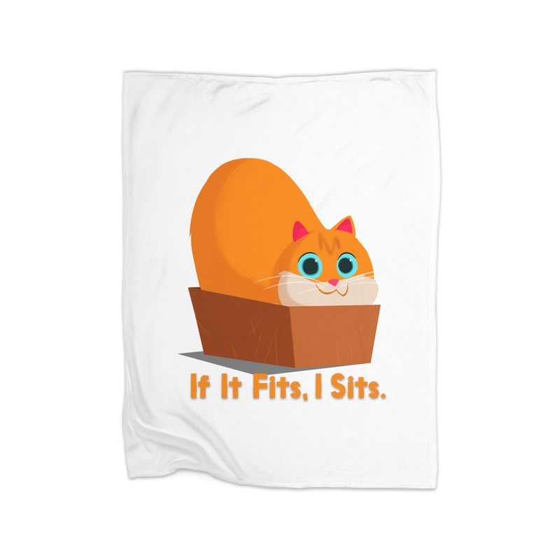 If it fits, i sits Home Fleece Blanket Blanket by Hosico's Shop
