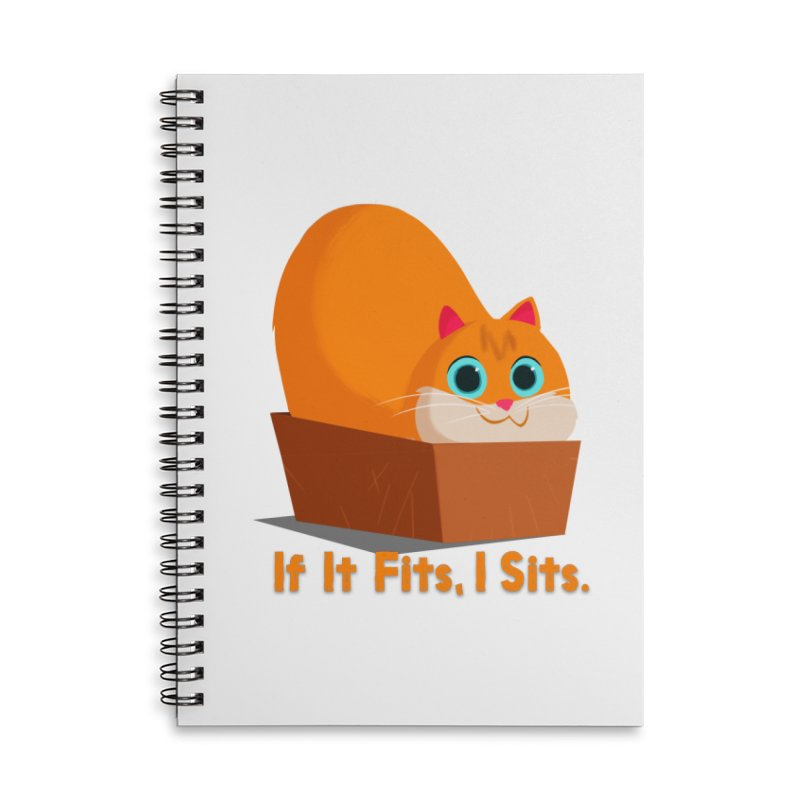 If it fits, i sits Accessories Lined Spiral Notebook by Hosico's Shop