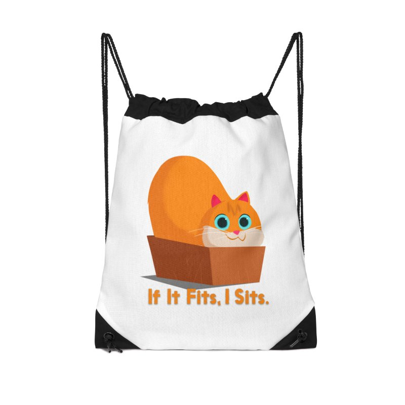 If it fits, i sits Accessories Drawstring Bag Bag by Hosico's Shop