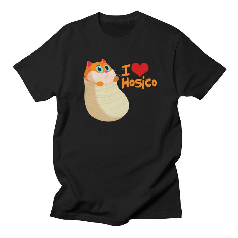 I Love Hosico Men's T-Shirt by Hosico's Shop