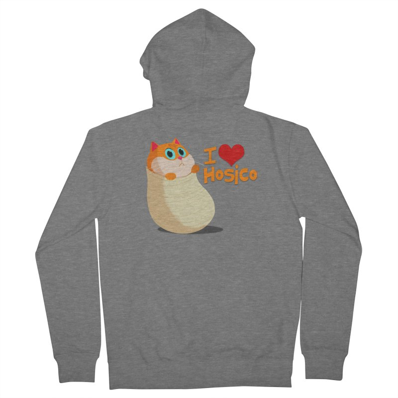 I Love Hosico Men's French Terry Zip-Up Hoody by Hosico's Shop