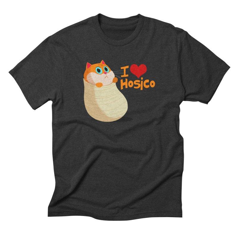 I Love Hosico Men's Triblend T-Shirt by Hosico's Shop