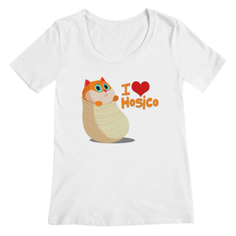 I Love Hosico Women's Regular Scoop Neck by Hosico's Shop