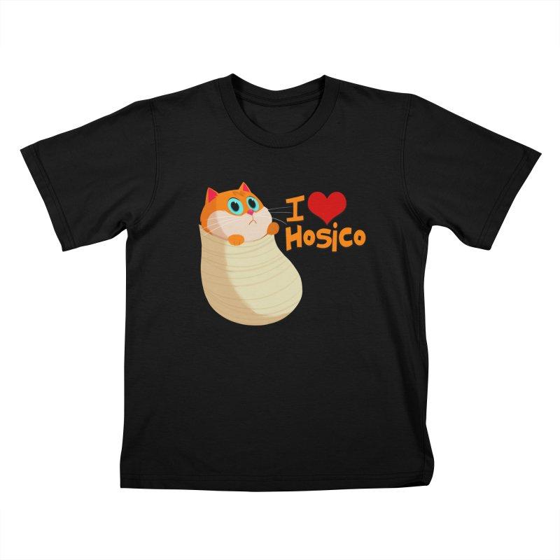I Love Hosico Kids T-Shirt by Hosico's Shop