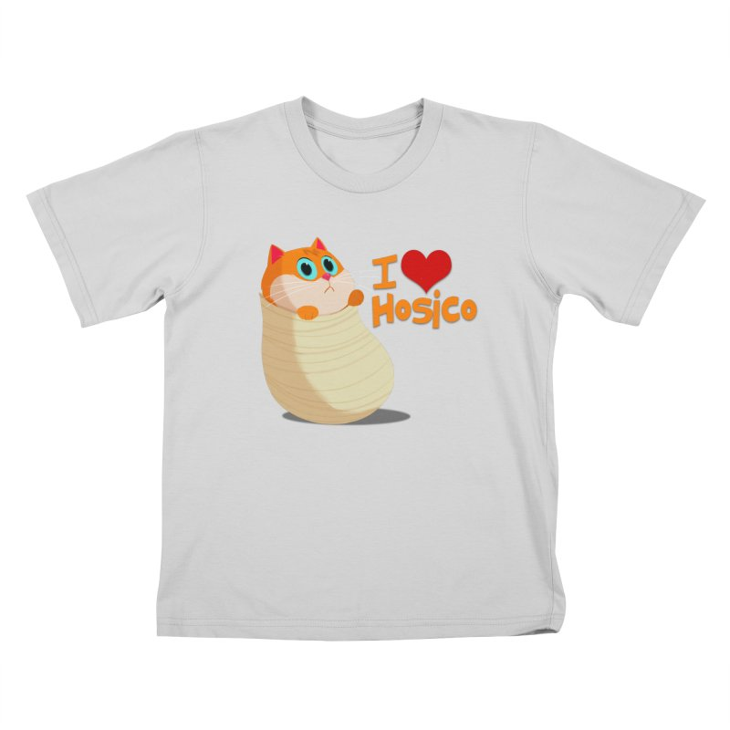 I Love Hosico Kids T-Shirt by Hosico's Shop