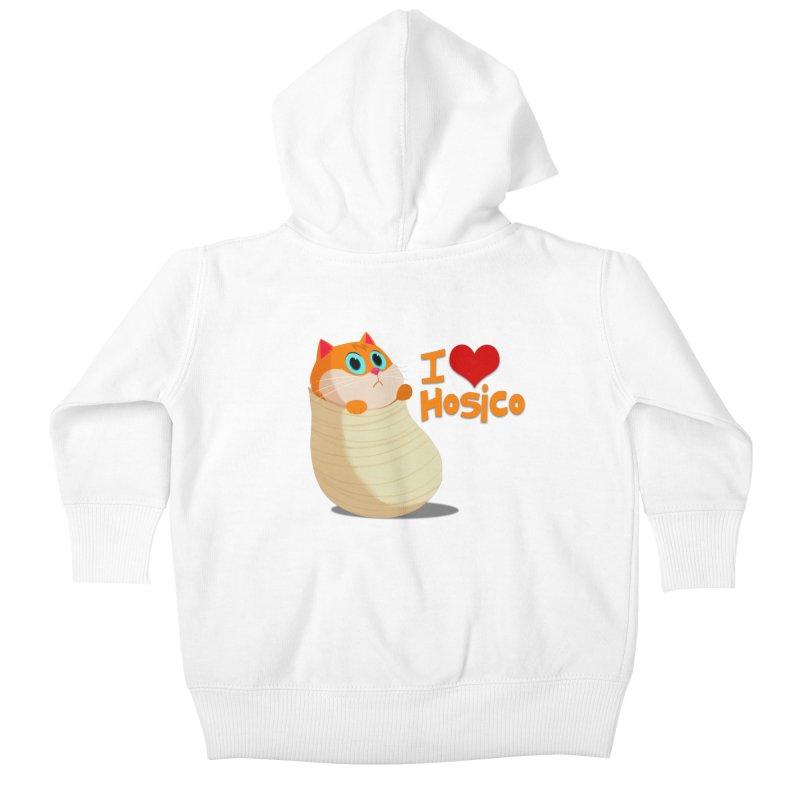 I Love Hosico Kids Baby Zip-Up Hoody by Hosico's Shop