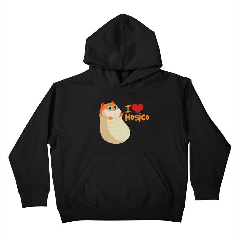 I Love Hosico Kids Pullover Hoody by Hosico's Shop