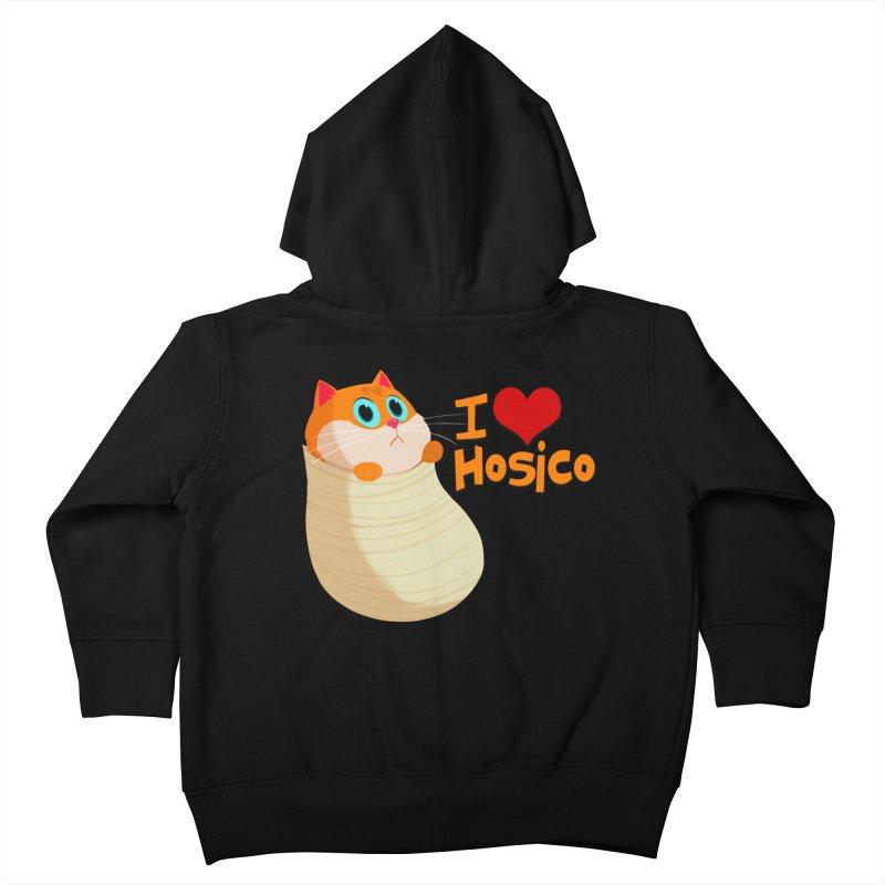 I Love Hosico Kids Toddler Zip-Up Hoody by Hosico's Shop