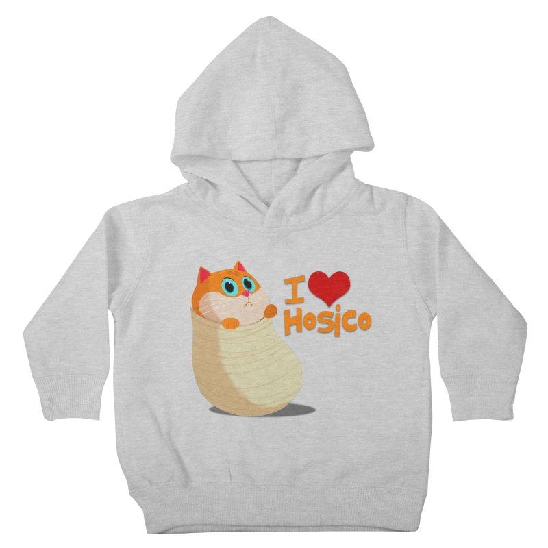 I Love Hosico Kids Toddler Pullover Hoody by Hosico's Shop