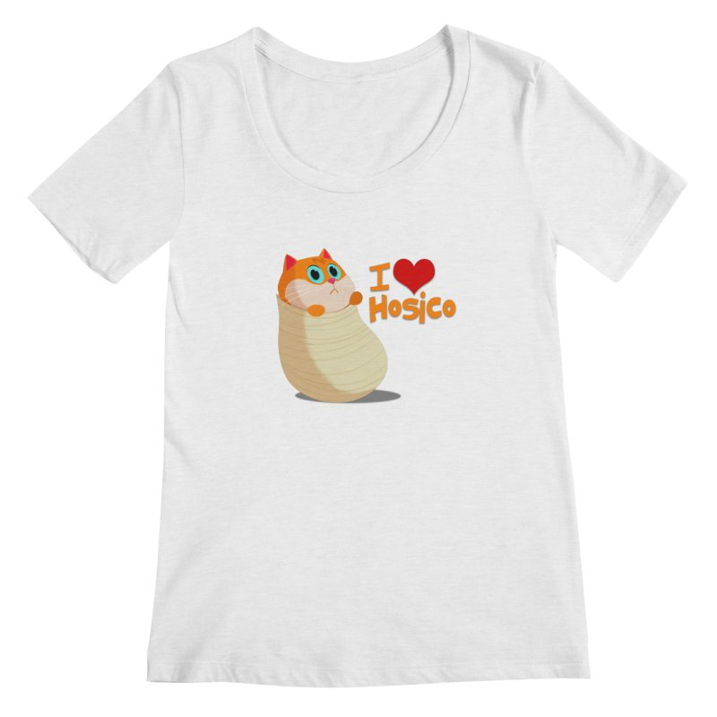 I Love Hosico Women's Scoop Neck by Hosico's Shop