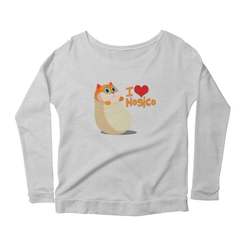 I Love Hosico Women's Scoop Neck Longsleeve T-Shirt by Hosico's Shop