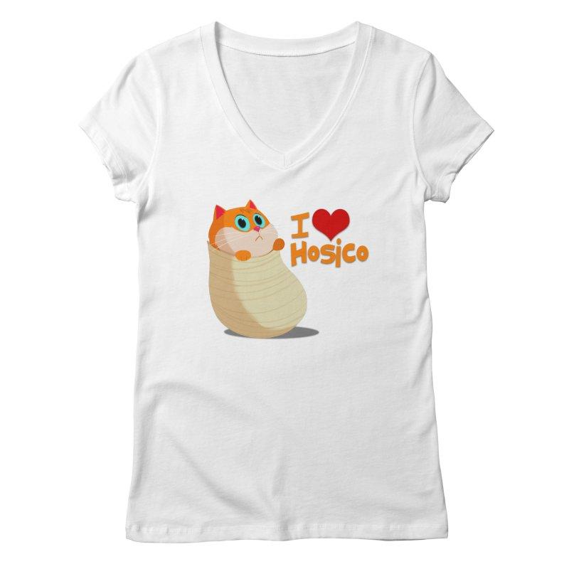 I Love Hosico Women's Regular V-Neck by Hosico's Shop