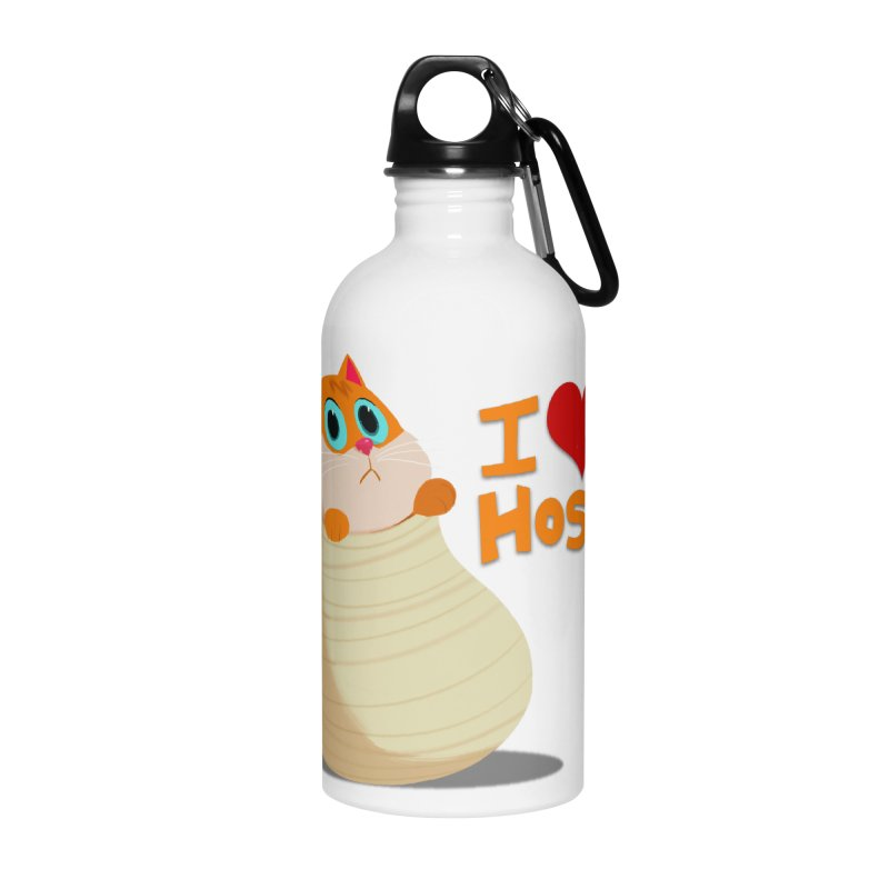 I Love Hosico Accessories Water Bottle by Hosico's Shop