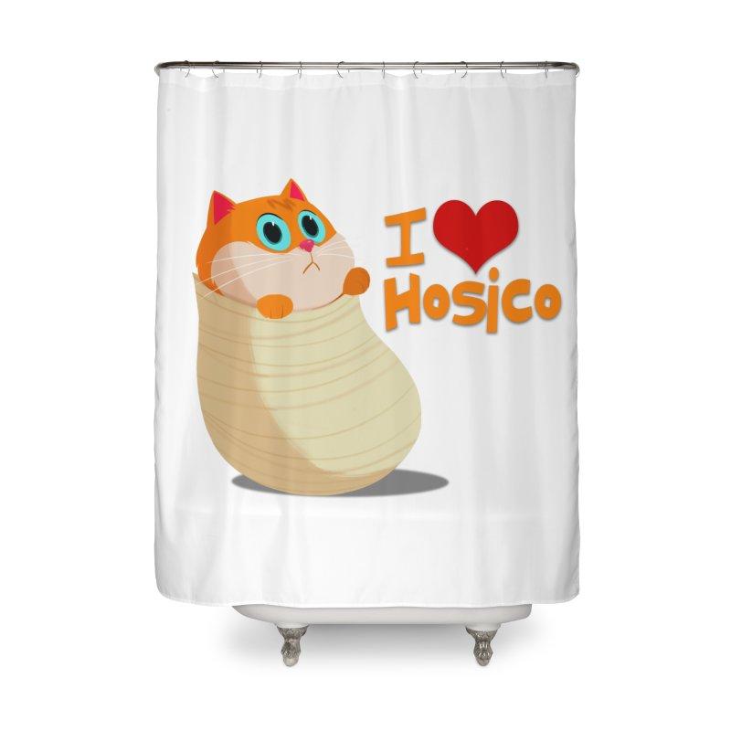 I Love Hosico Home Shower Curtain by Hosico's Shop