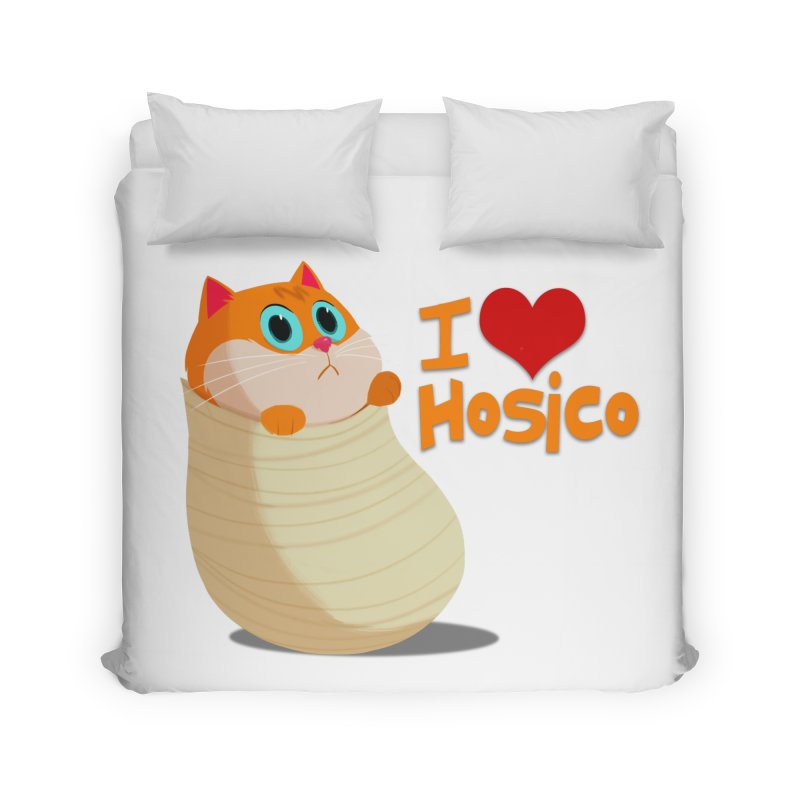 I Love Hosico Home Duvet by Hosico's Shop
