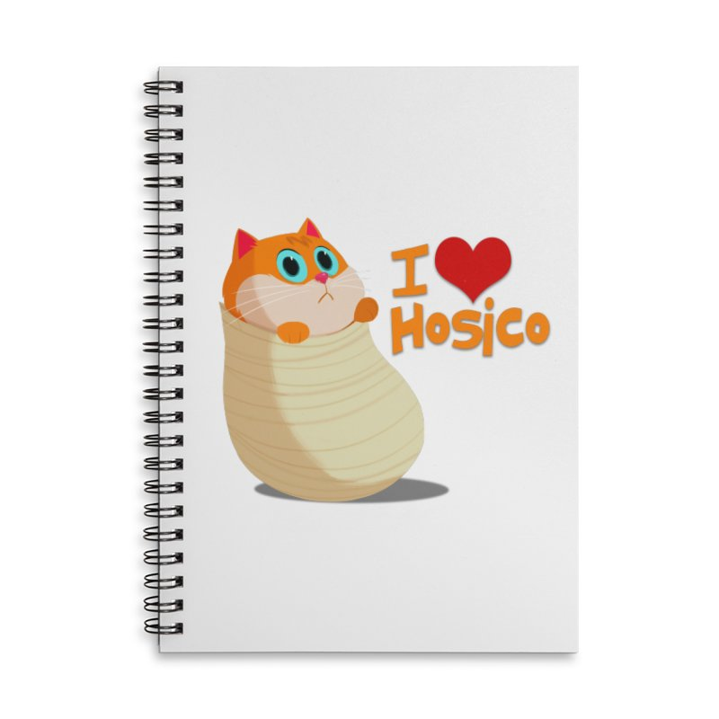 I Love Hosico Accessories Lined Spiral Notebook by Hosico's Shop