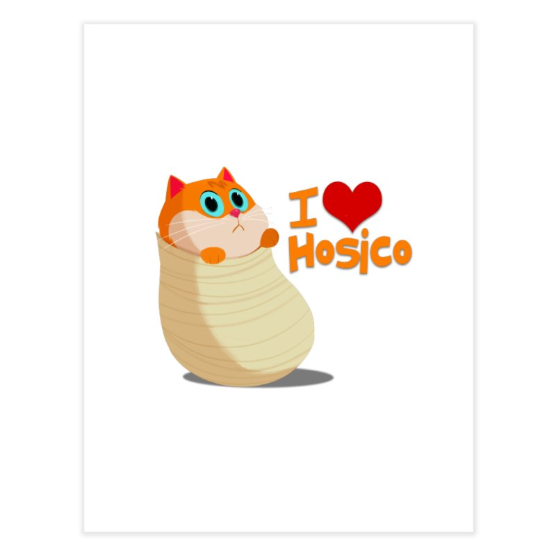 I Love Hosico Home Fine Art Print by Hosico's Shop