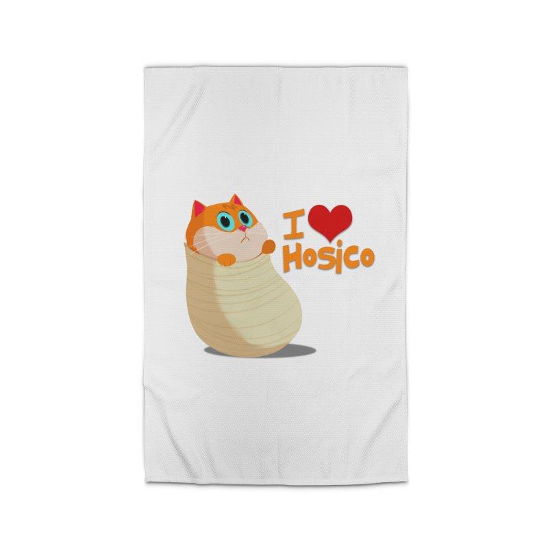 I Love Hosico Home Rug by Hosico's Shop