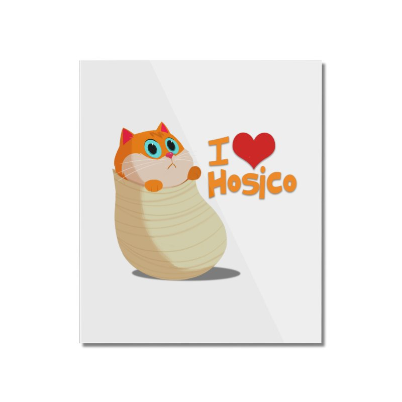 I Love Hosico Home Mounted Acrylic Print by Hosico's Shop