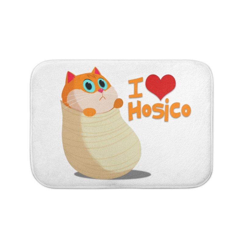 I Love Hosico Home Bath Mat by Hosico's Shop