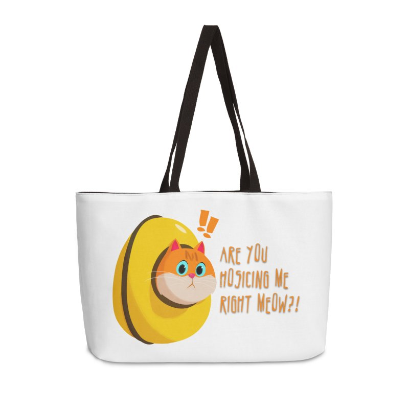 Are you Hosicing me right Meow?! Accessories Weekender Bag Bag by Hosico's Shop