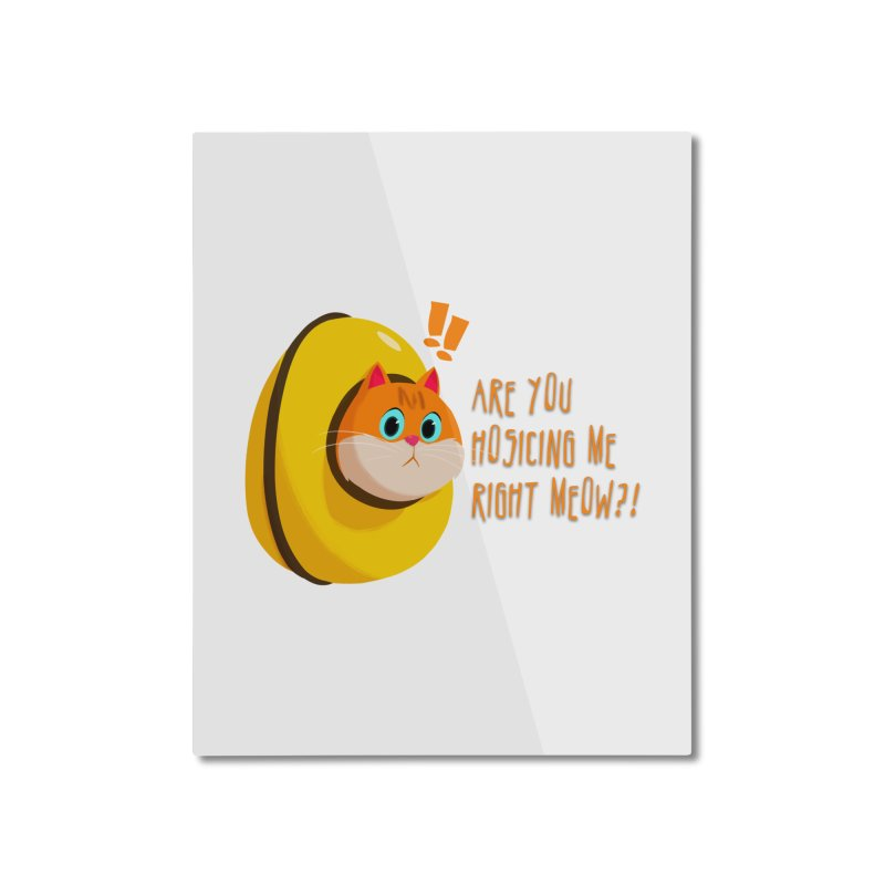 Are you Hosicing me right Meow?! Home Mounted Aluminum Print by Hosico's Shop