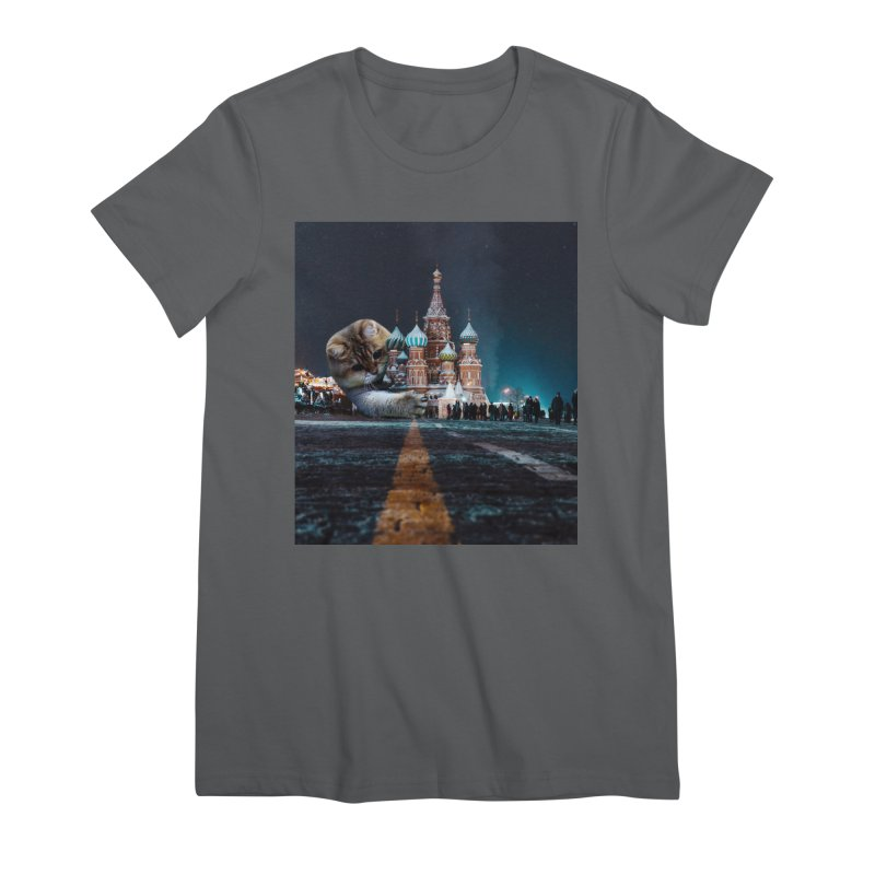 Saint Basil's Cathedral and Hosico Women's Premium T-Shirt by Hosico's Shop