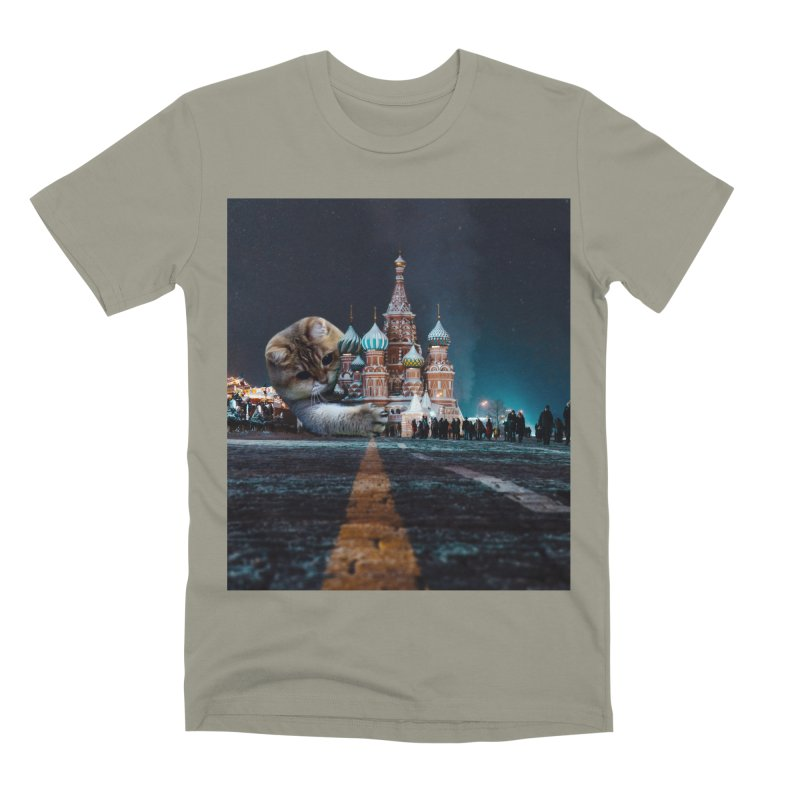 Saint Basil's Cathedral and Hosico Men's Premium T-Shirt by Hosico's Shop